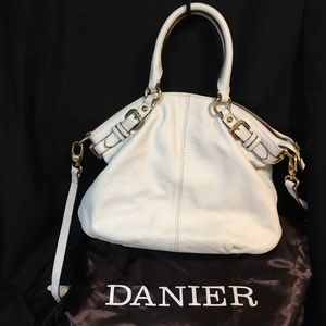 Danier, Pebble Leather Chalk White Convertible Bag